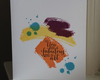 Work of Art Greeting Card