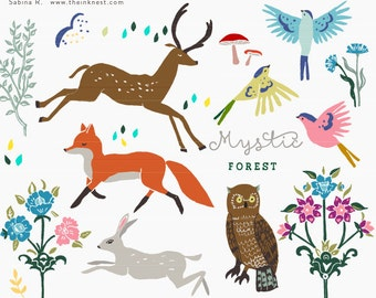 CLIP ART - Mystic Forest - for commercial and personal use