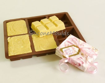 6 cell TOFFEE / FUDGE Bar (finished weight 100g) Silicone Bakeware Mould Candy Cake Mold Cupcake Toppers / Resin / Wax / Soap