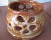 Candle Holder Luminary Handmade Pottery Stoneware wheel Thrown Pottery Home Decor Candle Vase Ceramic Pottery candle Cup Pot All Spice Glaze