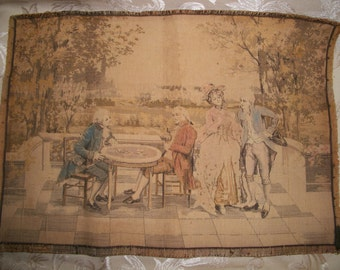 Antique Marie Antoinette Style Tapestry Wall Hanging