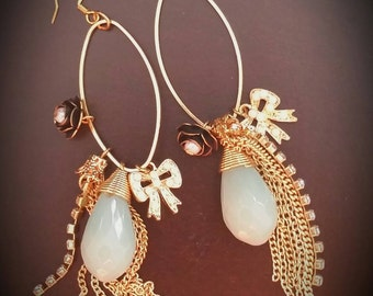 The Socialite Dangle Charm and Chain Earrings