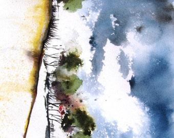 Stormy Day - Original Watercolor Painting