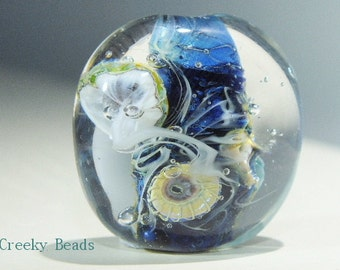 Handmade Lampwork Focal bead 'Under The Sea' Creeky Beads SRA