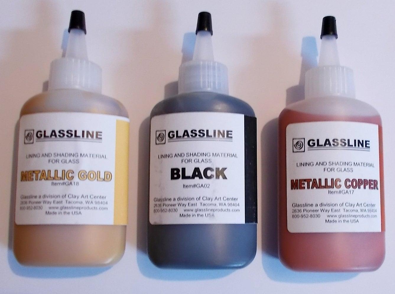 Glassline Fusing Glass Paints 'Metallic Gold by missourijewel