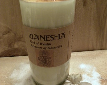Ganesha: God of Wealth and Remover of Obstacles Fixed Vigil Novena Soy Candle