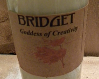 Bridget Goddess of Creativity Fixed Vigil Novena Soy Candle