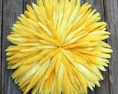 """18.5"""" Yellow Wool Juju Hat"""