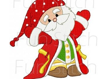 set of 10 bedtime santa machine embroidery design