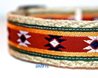 Southwest Dog Collar, Western Dog Collar, Dog Collar, Stripe Dog Collar, Boy Dog Collar