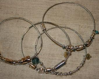 Sterling Silver Bracelet, Stackable bangle, Handcrafted Bracelet ,Stainless Steel Bracelet,Stainless Steel  Bangle,