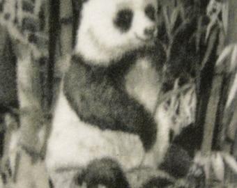 Pandas Playing Handmade Fleece Blanket - Ready to Ship Now