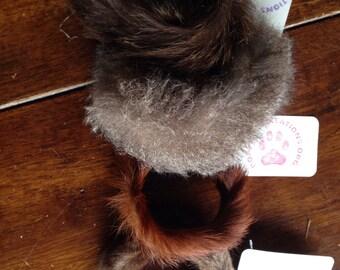 Genuine SQUIRREL, GOAT, Opossum and Raccoon Fur Bracelets or Cuffs (Set of 4)