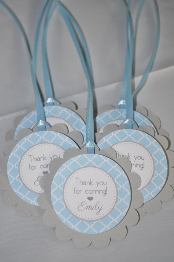 boys baby shower favor tags it 39 s a boy favors blue and gray boy