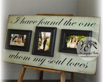Valentines Day Frame, Wedding Gift, Anniversary Gift, Wedding Frame, Wood Gifts 5th Anniversary, 16x30 The Sugared Plums