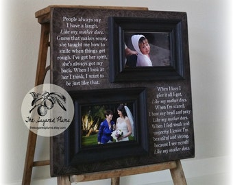 Mother Of The Bride Gift, Mother Of The Bride Frame, Thank You Gift, Like My Mother Does, 16x16 The Sugared Plums Frames
