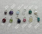 add a gemstone dangle | birthstone dangle | natural stones