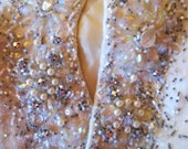 Outrageous Beaded, Sequinned, Rhinestoned, Pearled 50s Couture Sweater, L
