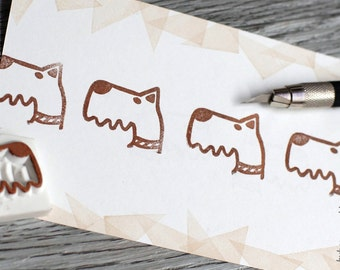puppy rubber stamp, schnauzer stamp, dog rubber stamp, custom stamp, germany dog breed stamp, pet rubber stamp, pet's party stamp