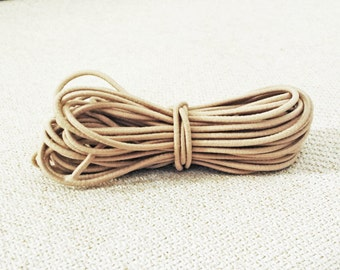 2.5mm Sand Elastic Cord - Choose your length