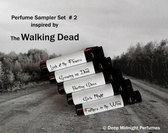 WALKING DEAD inspired PERFUME Sampler - Set # 2