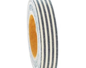 Fabric Tape - FT 020  Stripe Navy Blackstone - Love My Tapes