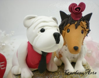 Custom wedding cake topper--Love MASCOT couple with circle clear base--Georgetown & Texas--NEW