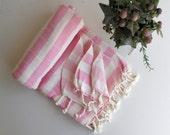 Organic Towel Pink Bath Beach Towel Handwoven Fouta Peshtemal High Quality Turkish Cotton Bath,Beach,Spa,Yoga,Pool Towel