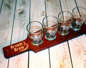 1 Custom Engraved Beer Flight Paddle and Sample Glasses Set - Groomsman Gift - Mens Gift - Fathers Day Gift - Craft Beer Gift
