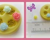 Flower Rose Tiny Polymer Clay Flowers Cabochon Mold Resin Clay Mould