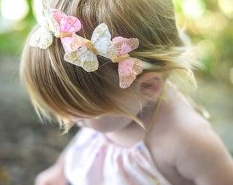 Butterfly Crown, Butterfly Headband, Wanderlust, Woodland, Whimsical Headband, Baby Headband