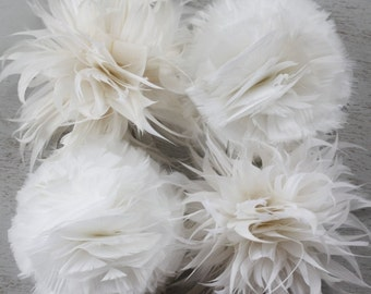 Feather Flower Tutorials, PDF Tutorials , DIY Home Decor