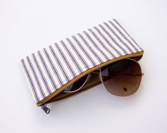 California Sunglasses Pouch - Japanese Ticking
