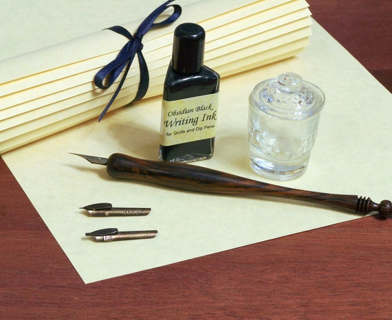 Calligraphy Starter Kit With Dip Pen Nibs Ink Inkwell
