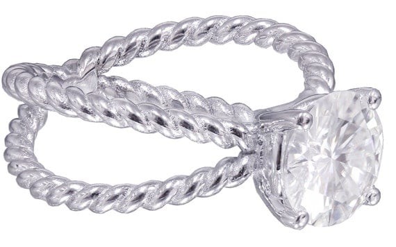 14k white gold round cut diamond engagement ring solitaire 1.50ct H-VS2 EGL USA
