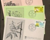 British Virgin Islands FDI 339-341 Presentation Cards Royal Horticultural Society – Beautiful Florals Vintage Paper Ephemera