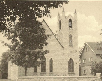 St Paul's Anglican Church MARMORA Ontario Unused PECO Vintage Postcard