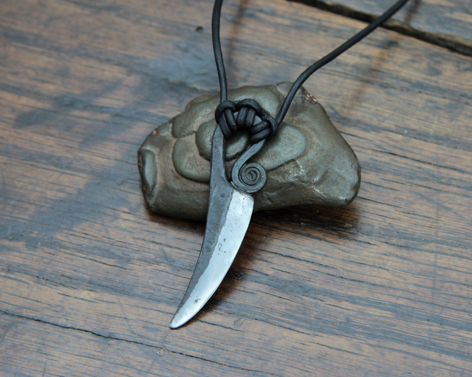 Athame Pendant a pure iron knife pendant inspired by the