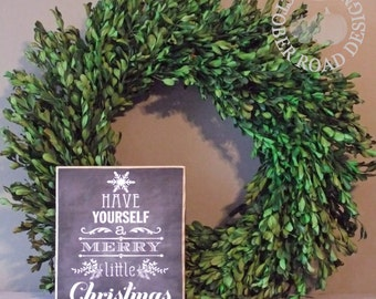 A Merry Little Christmas Sign by October Road Designs