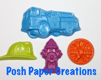 5 sets of 4 Fireman theme crayons - choose your colors