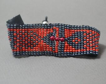 Bracelet, Seed Bead Bracelet, Handmade bracelet, Friendship Bracelet, Loomed Bracelet, Bead Loom Bracelet, Adjustable Bracelet,