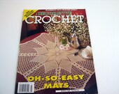 Vintage DECORATIVE CROCHET Pattern Booklet - March 1996 # 50 - Crochet Doilies - table mats - Bedspreads - Place Mats and more