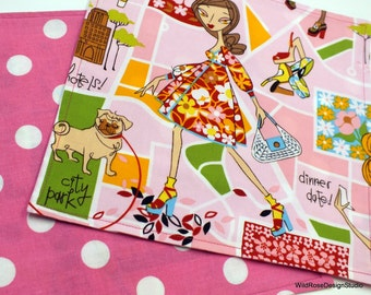 BOGO sale on now! Chic City Girls Lunchbox Kid's Cloth Napkins  // Set of 2