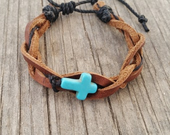 SALE Leather Bracelet Turquoise Jewelry Christian Gift Trending Now Country Girl Gifts Sale Jewelry Western R1995