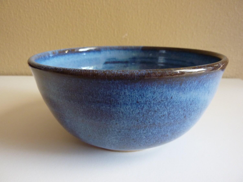 Vintage Art Pottery Bowl Artist Signed Blues Haute Juice