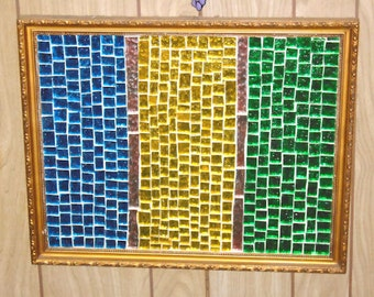Stained Glass Mosaic Decorative Glass Wall Decor Wall Hanging Wall Art Home Decor