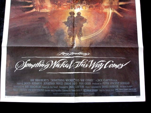 1983 Movie Posters: Something Wicked This Way Comes Original 1983 Movie Poster