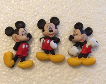 DISNEY Mickey Mouse Magnets / Set of Three DISNEY Magnets / Animal Magnets / Mickey Mouse