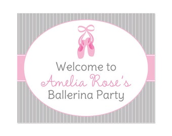 PRINTABLE Ballerina Party Welcome Sign