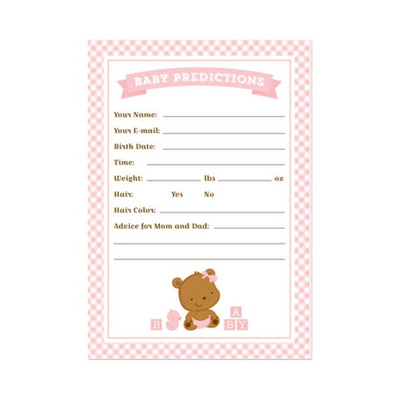 50% Off Sale! - PRINTABLE Baby Shower Baby Stats ...